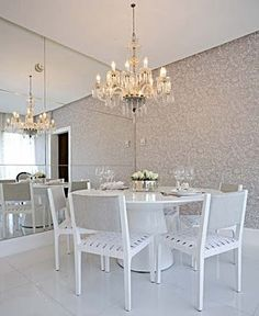 decoração clean sala jantar