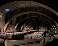 Mission Hill Family Estate Winery has won a lot of awards of being one of the best wineries in Kelowna. Contemporary Architecture, Architecture Design, Amazing Architecture, In Vino Veritas, Vacation Trips, British Columbia, Pictures, Wine Cellars, Wine Rooms
