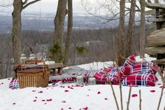 Picture this scene...at night....with the snow lit up by 50+ candles!!!! Our proposal :)