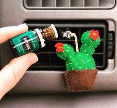 Aromatherapy Essential Oil Cactus Air Vent Car Diffuser, Air Freshener, Essential Oil Diffuser for Car - Diy car air freshener - Hippie Auto, Hippie Car, Car Interior Decor, Cute Car Accessories, Car Freshener, Diy Car Air Fresheners, Homemade Air Freshener, Car Essentials, Car Hacks