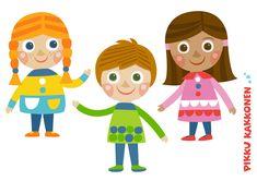 Mustikkakujan lapset | paperinukke | lapset | perhe | koti | arki | | askartelu | paperi | paper | DIY ideas | paperdoll | I kid crafts | Pikku Kakkonen | yle.fi/lapset