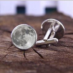 Full moon  - #cufflinks - 3d glass lens front - #space luna - mens gift #valentin,  View more on the LINK: http://www.zeppy.io/product/gb/2/112268221531/