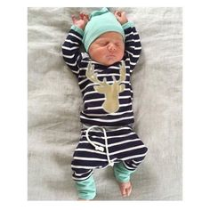 Cheap trouser jumpsuit, Buy Quality trousers baby directly from China t-shirt equaliser Suppliers: Baby Boy Girl Autumn Outfit Clothes Newborn Kids Striped T-Shirt Tops+ Blue Striped Pants Trousers+Hats Set Outfits With Hats, Baby Boy Outfits, Casual Outfits, Baby Boy Fashion, Kids Fashion, Womens Fashion, Baby Boy Newborn, Baby Boys, Infant Boys