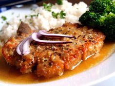 Přírodní vepřová kotleta   Vaření s Tomem Risotto, Mashed Potatoes, Pork, Treats, Chicken, Cooking, Ethnic Recipes, Whipped Potatoes, Kale Stir Fry