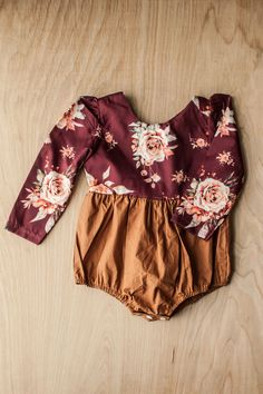 96f497967cd Just love the colors on this sweet baby and toddler girls romper. Florals  are always