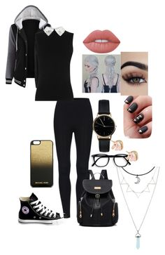 """""""First day of school"""" by fangirl-20037 on Polyvore featuring Converse, MICHAEL Michael Kors, Freedom To Exist and Lime Crime"""