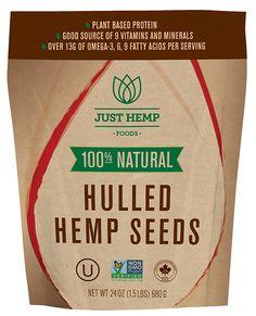 100% natural hulled hemp seed