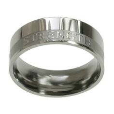 """Christian Mens Stainless Steel Abstinence 8mm """"Strength"""" Isaiah 40:31 Chastity Ring for Boys - Purity Rings for Guys Spirit & Truth. $23.99"""