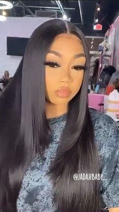 Baddie Hairstyles, Black Women Hairstyles, Sew In Hairstyles, Hair Ponytail Styles, Long Hair Styles, Black Hair Wigs, Birthday Hairstyles, Straight Weave Hairstyles, Hair Laid