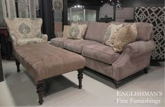 Relax in comfit in the Morganton Sofa offered at Englishman's. The Morganton Sofa is available other fabrics as well as COM.