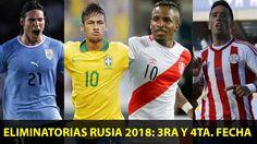 Las Eliminatorias Rusia 2018 en Sudamérica se jugarán en su tercera fecha este jueves 12 y viernes 13 de noviembre. Mientras que la cuarta jornada se desarrollará el próximo martes 17 de noviembre en su totalidad. ¿Contra qué rivales chocará la Selección Peruana? Noviembre 09, 2015.