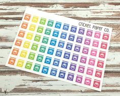 Laundry Planner Stickers Washing Machine by CricketPaperCo on Etsy