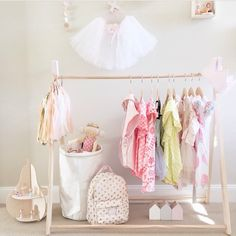 Kids clothes rack.