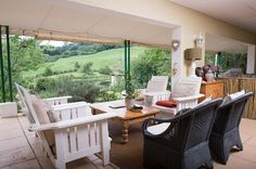 What better way to relax than overlooking the green, rolling hills of the Midlands? Wouldn't you like to kick off your shoes on the Twin Pools verandah? www.midlandsmeander.co.za Midland Meander, Kwazulu Natal, Ways To Relax, Pools, Twin, Patio, Places, Outdoor Decor, Green