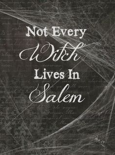 "Free Halloween printable - ""Not Every Witch Lives in Salem"" Halloween, costumes, Halloween party, spooky, Halloween costumes, free Halloween, Halloween crafts, easy Halloween, mummy, ghost, scary, witch"