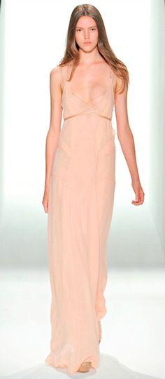 Calvin Klein nude maxi dress - LOVE