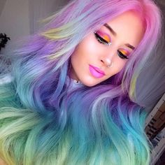 """8,222 Likes, 21 Comments - Vegan + Cruelty-Free Color (@arcticfoxhaircolor) on Instagram: """"Rainbow for the win @amythemermaidx"""""""