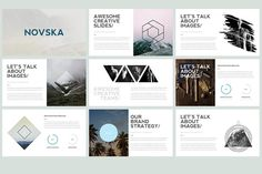 Ad: Novska - Modern Powerpoint Template by Elokka Std. on Novska is Powerpoint Template with Modern and Minimalist Style. This Template Can Kickass and Make Impact for your Next Presentation. Presentation Design Template, Ppt Design, Business Presentation, Graphic Design, Design Templates, Brand Presentation, Shapes Images, Slide Images, Business Card Logo