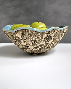 large hand built ceramic bowl from Lee Wolfe Pottery