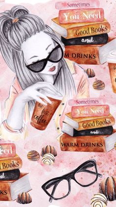 No todas la chicas son iguales. Sometimes you need good books and warm drinks phone wallpaper Wallpapers Tumblr, Tumblr Wallpaper, Cute Wallpapers, Wallpaper Backgrounds, Book Wallpaper, Photo Wallpaper, Screen Wallpaper, Wallpaper Fofos, Coffee And Books