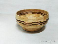 Segmented oak bowl