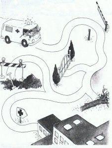 transportation maze worksheet for kids (2)   Crafts and Worksheets for Preschool,Toddler and Kindergarten