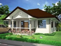 Want to have a beautiful house but you have a narrow lot? Here are some small house plans for you to check out! Simple Bungalow House Designs, Bungalow Haus Design, Small Bungalow, Simple House Design, Bungalow House Plans, Philippines House Design, House Design Pictures, Beautiful House Plans, Bungalows