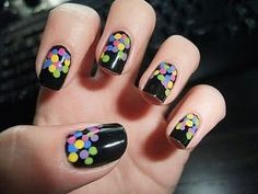 confetti nails. Pretty easy if you think about it