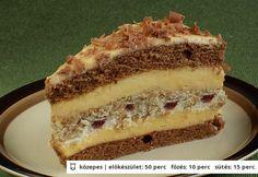 Csodálatos szelet Sweets Recipes, Cupcake Recipes, Cookie Recipes, Hungarian Desserts, Hungarian Recipes, Homemade Sweets, Sweet Cookies, Cake Bars, Sweet And Salty
