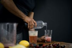fizzy bombay cherry lemonade   A Brown Table