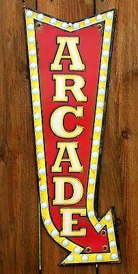 Large Arcade Tin Metal Sign Video Games Atari Capcom Nintendo Bally Game Room - http://dynamicvideogames.com/2014/01/28/large-arcade-tin-metal-sign-video-games-atari-capcom-nintendo-bally-game-room/
