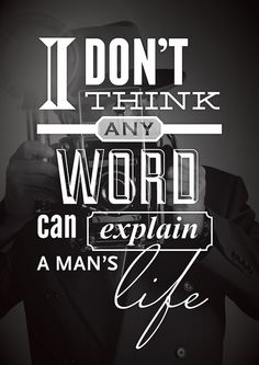 man's life typography via @lizardwijanarko http://www.ahlidesain.com