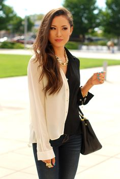 Jessica (HapaTime) in La Vie En Rose top, Ziba jewelry set, #Prada Saffiano Lux bag, Pacsun Bullhead Black denim