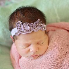 Dress your little girl in the best with the adorable Tiny Blessings Boutique Newborn Love Lavender Headband. Perfect for photo shoots, parties, or everyday use, the rhinestone designed headband will make your baby girl stand out.