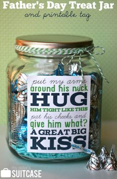HERSHEY'S KISSES Chocolates make this cute DIY treat jar a sweet Father's Day surprise!