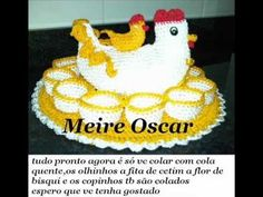 Passa a passo da galinha porta ovos com Meire Oscar - YouTube