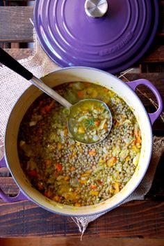 Sopa de lentejas al curri