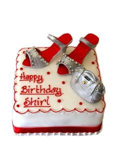 Stay glamourous with this lavishly accessorised birthday cake