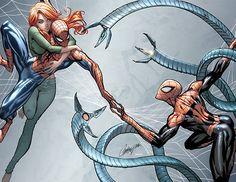Marvel Art, Marvel Dc Comics, Marvel Heroes, Marvel Characters, Marvel Funny, Spiderman Art, Amazing Spiderman, Spiderman Costume, Scott Campbell