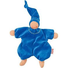 Waldorf Gugguli Doll - Embroidered Blue from Oompa Toys