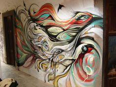 freepaint by ~shepa on deviantART Art Paintings, Wall Murals, Surrealism, Street Art, Weird, Deviantart, Abstract, Artwork, Animals