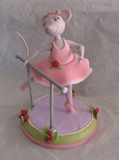 Angelina Ballerina cake topper lovelyness