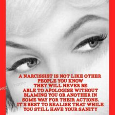 Malignant Narcissists will never apologize, if they do, please understand, that is the mask they are wearing for you to continue to get supply from you. They feel no remorse. Narcissists are Predators! Narcissistic Mother, Narcissistic Behavior, Narcissistic Sociopath, Narcissistic Personality Disorder, Narcissistic People, Abusive Relationship, Toxic Relationships, Relationship Goals, Antisocial Personality
