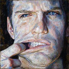 Danile Barkley Face-puller (Rob's teeth) 2009 acrylic on canvas/acrylique sur toile 41 cm, x Figure Painting, Painting & Drawing, Painting People, Illustrations, Illustration Art, L'art Du Portrait, Art Visage, Ap Studio Art, A Level Art