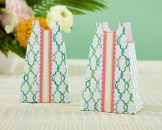 Kate Aspen Colorful A-Line Sundress Design Favor Boxes (Set of 12) | Personalized Gifts and Party Favors