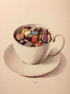 Tea and books--perfect together.