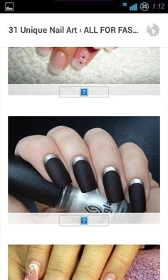 Matte nails with silver