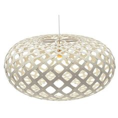 David Trubridge Kina Pendant: White