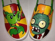 Plants vs Zombies Inspired Special Occasion Hand Painted by ZoSos