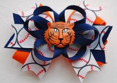 Detroit Tigers Inspired Hair Bow